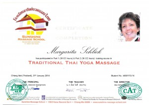 Thai-Yoga-Massage Zertifikat